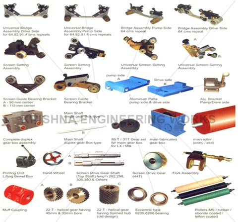 SPARES FOR ROTARY PRINTING MACHINE
